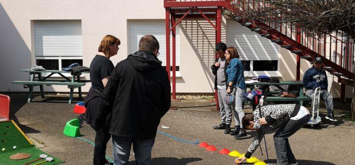 Activités motrices à la MAS «les marronniers» de Guénange
