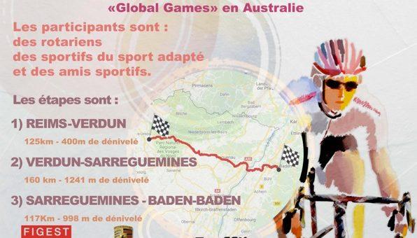 De Reims à Baden-Baden à vélo pour permettre à des sportifs de participer au «Global Games» avec le Rotary International