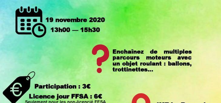 Tout roule à l'IME de Jussy le 19 novembre. Activités motrices