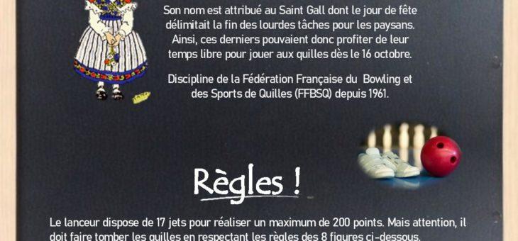 Défi Bricole ton Sport: les Quilles Saint Gall