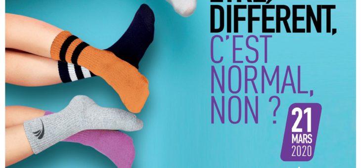 Osez la différence, portez des chaussettes dépareillées en soutien aux personnes atteintes du syndrome de Down (trisomie 21)