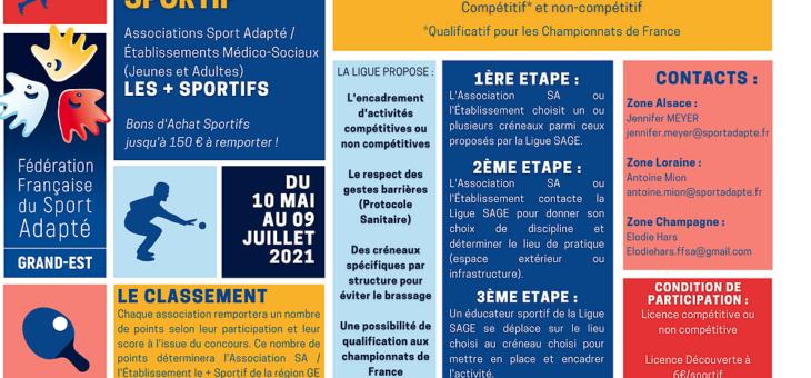 Concours sportif de la Ligue Sport Adapté Grand Est à destination de toutes les Associations Sport Adapté de la région ainsi que des Établissements Médico-Sociaux.