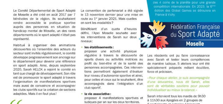 Le Comité de Sport Adapté de Moselle très présent à  l'APEI de Moselle