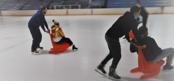 Ca glissait à la patinoire  jeudi 15 octobre.