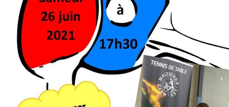 Samedi 26 juin venez découvrir le Para Tennis de Table Adapté aux portes ouvertes du Gymnase J.Bommersheim